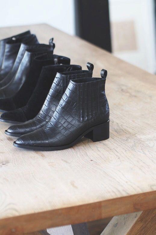 Chelsea boots - sort læder: