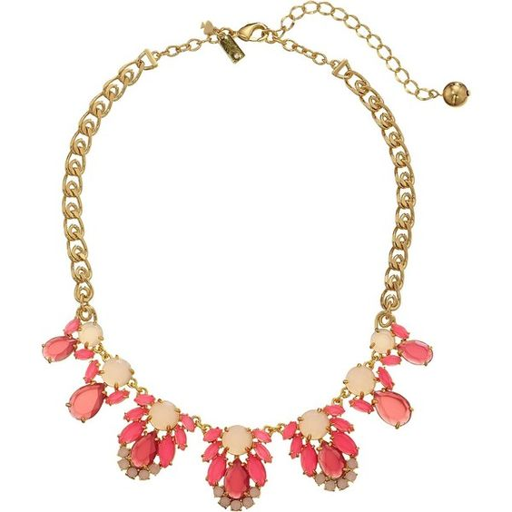 Kate Spade New York Steamer Glow Graduated Necklace, Red ($90) ❤ liked on Polyvore