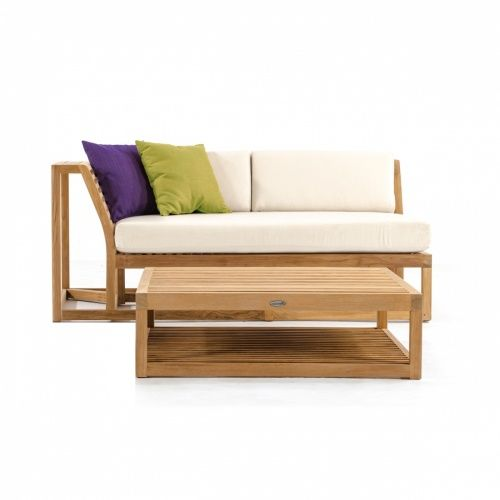 Maya Teak Outdoor Sectional Sofa | Outdoor Sectional, Teak Outdoor Furniture  And Teak
