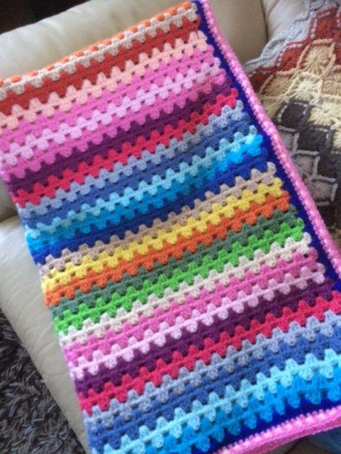 Afghan Made In Granny Stripes Idea From Attic 24 Crochet Edging Crochet Attic 24 Crochet