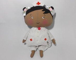 boneca de pano baby enfermeira
