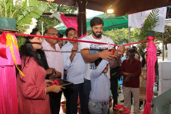 Actor Arya inaugurates Agraharam Pure Veg Hotel at Anna Nagar