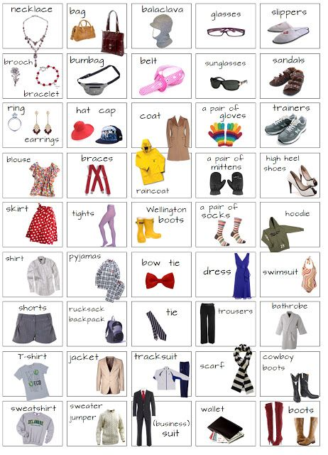 Clothes Vocabulary:
