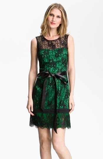 Kathy Hilton Contrast Lace Overlay Slip Dress available at #Nordstrom [I'm super in love with everything that's happening here!!!]