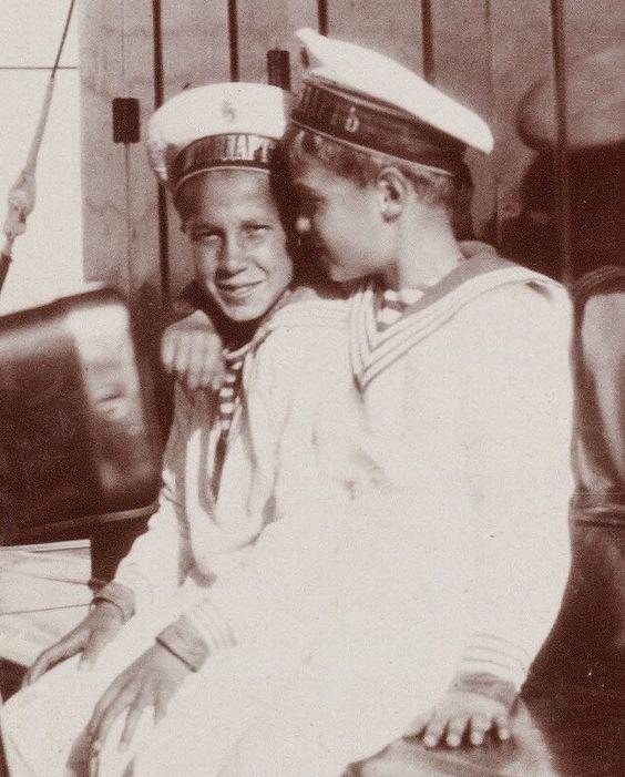 Alexei & a friend onboard the Standart: