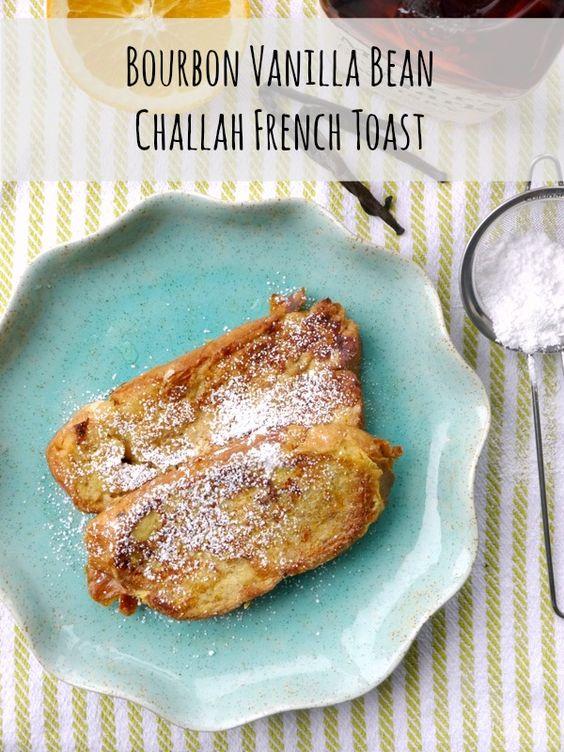 bourbon vanilla bean challah french toast // my bacon-wrapped life