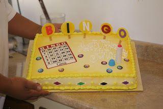 Fun bingo cake