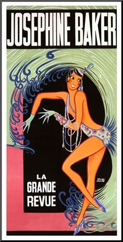 Josephine Baker Giclee Print by Zig (Louis Gaudin) at AllPosters.com