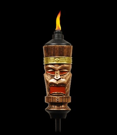 tiki god torch from tiki torches totally adds some personality to your backyard design pinterest polynesian wedding wedding and accessories