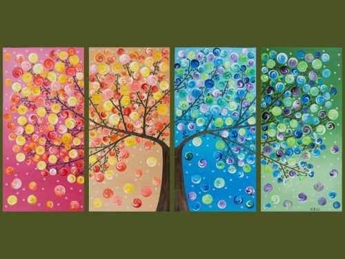 árbol de la vida cuadros pintados a mano. súper originales!