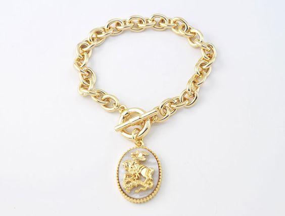 Pulseira Medalha São Jorge :: Gisyshop