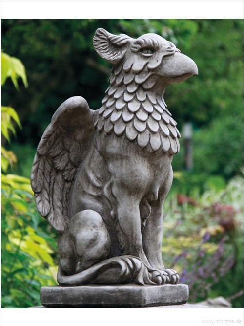 Greif Majestatischer Torwachter Aus Englischem Antiksteinguss Sandsteinguss Frostfeste Gartenfigur Gartenfiguren Torwachter Figur