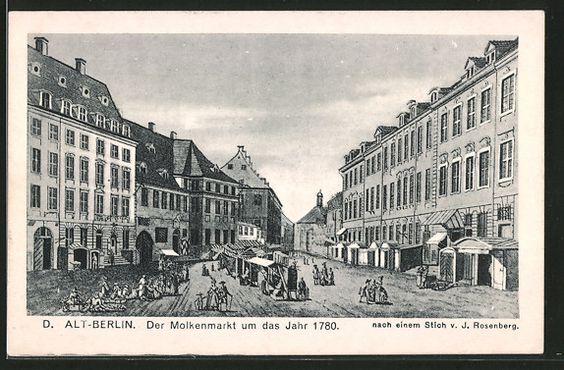 Alte Ansichtskarte: AK Alt-Berlin, Der Molkenmarkt um das Jahr 1780