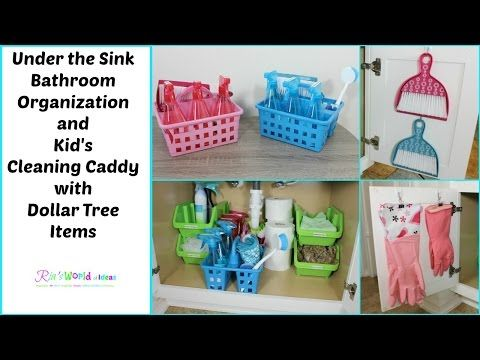 Under The Sink Bathroom Organization And Kid S Cleaning Caddy With