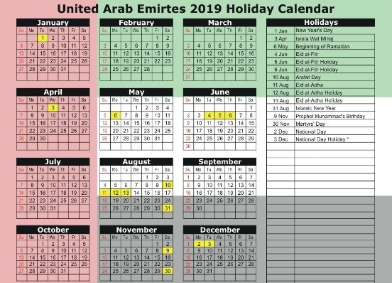Muslim Holidays 2020 Holiday Calendar Muslim Holidays School Holiday Calendar