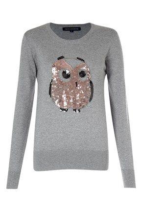 Lady Owl Sequin Jumper