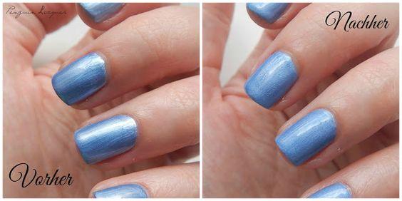 Beauty Hack gegen streifige Metalliclacke: Matter Überlack und dann glänzender Überlack ;)