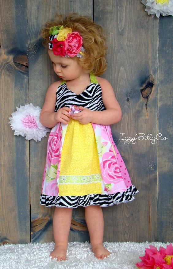 Girls Zoe Paneled Halter Dress by IzzyBellyCo LIMITED QUANTITIES 6/9m, 12/18m, 2t, 3t, 4t, 5, 6