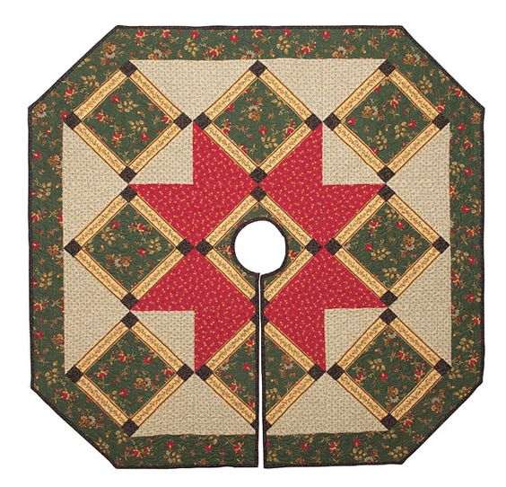 Additional Images of Christmas Time Tree Skirt Kit by Connecting Threads - ConnectingThreads.com