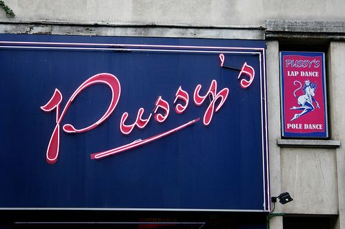 Pussy's lap dance club #paris #street #details