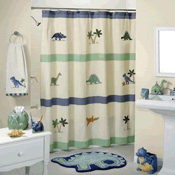 Dinsoaur Bathroom Shower Curtain Sets Decor Trends