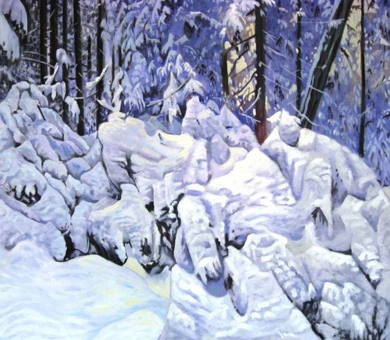 'untitled - snowforms'  Oil on canvas, 70 x 90 cm, 2011, Christina Nielsen-Marsh