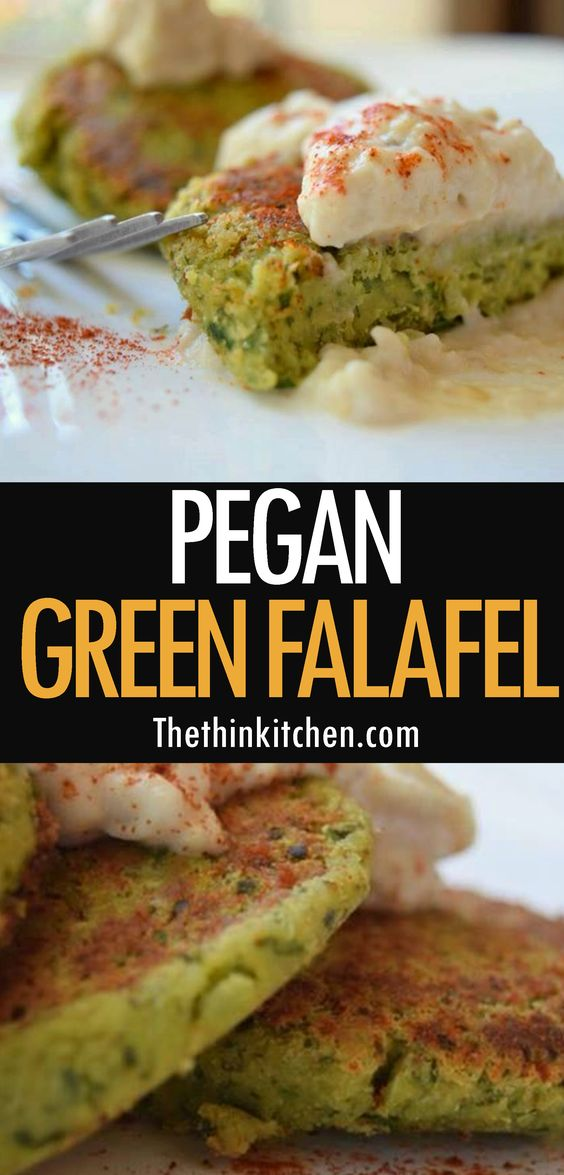 Green Falafel with Baba Ganoush