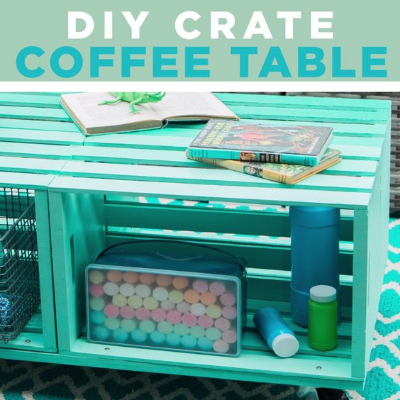 Make A Mobile Outdoor Coffee Table From Wooden Crates