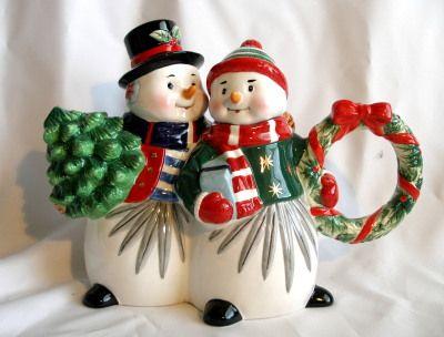 Waterford Wonderland Snowman Teapot