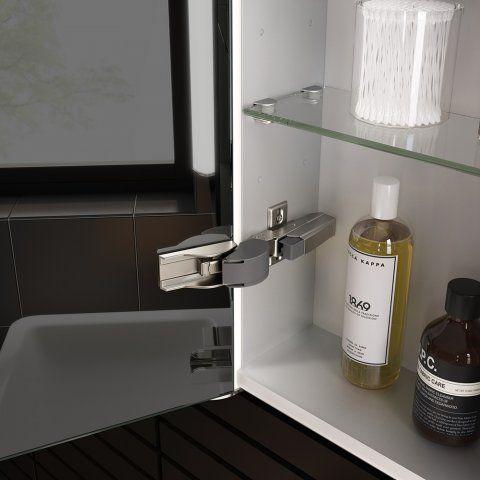 600mmx650mm Luminaire lluminated LED Mirror Cabinet, Bluetooth Speaker & Shaver Socket - soak.com