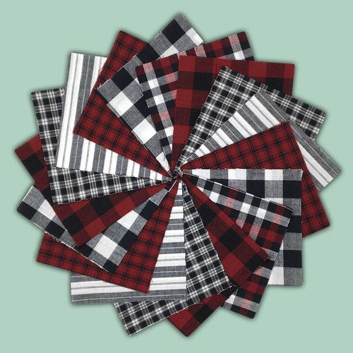 Lodge Plaids Charm Pack Precut Quilt Squares Available In 5 Or 6 Packs From Jubilee Fabric Square Quilt Homespun Fabric Buffalo Plaid Quilt