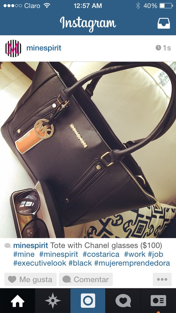 Tote 4 executive M GIRL with CHANEL glasses ($100)