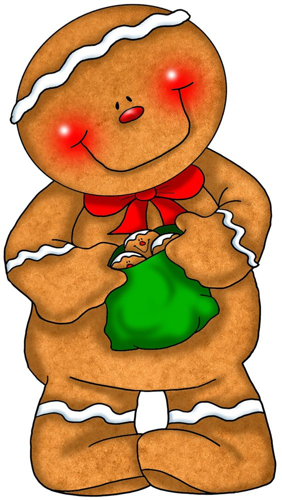 Clip Art Gingerbread Clipart transparent gingerbread with green bag png clipart christmas clipart