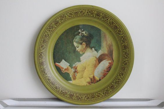 Vintage Wall Plate Young Girl Reading 1974 The by MossAndBerry, $14.00
