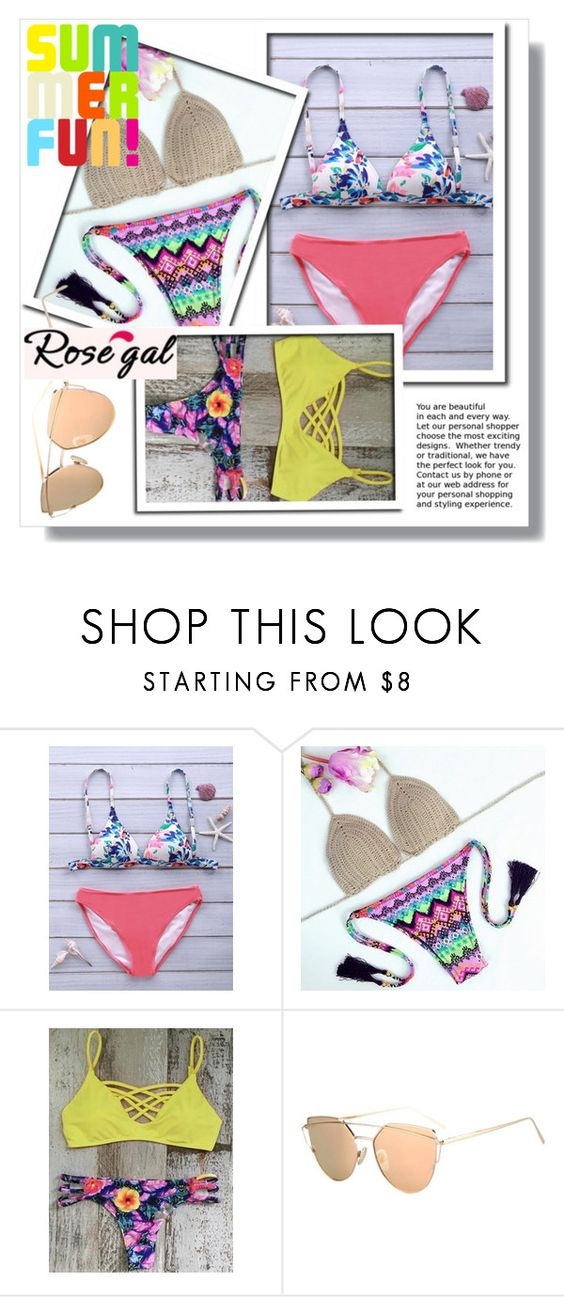 """""""Rosegal 29"""" by mini-kitty ❤ liked on Polyvore featuring Summer, rosegal and bikiniset"""