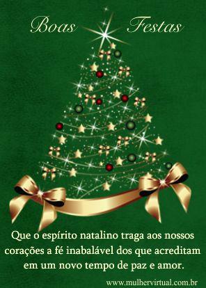 Que o espírito natalino traga aos nosso corações a fé inabalável…