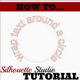 How to Make Text Curve in Silhouette Studio ... Click for the easy 3 Step Tutorial on Wrapping Text \