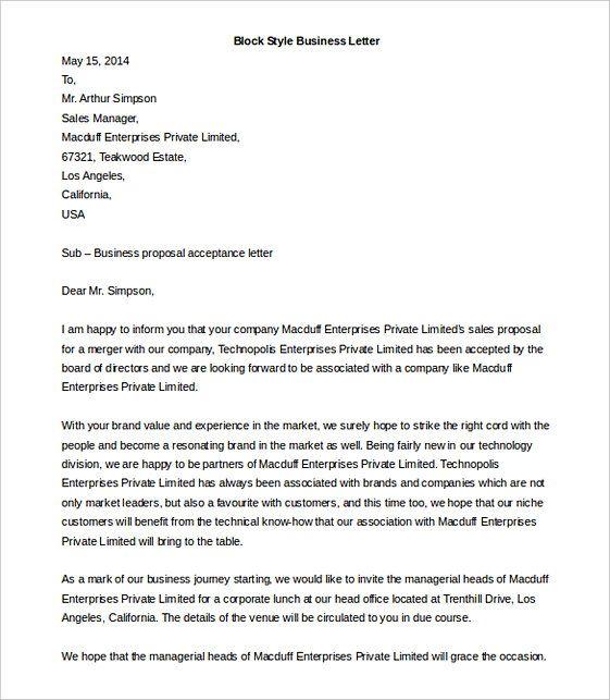 Business Letter Format Dengan Gambar