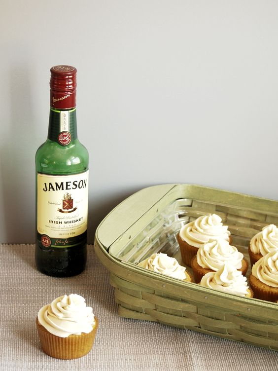 Cinnamon Browned Butter Cupcakes with Whiskey Salted Caramel Buttercream are warmly rich, sweet and salty delights. The Jameson Irish Whiskey gives them an adult kick.