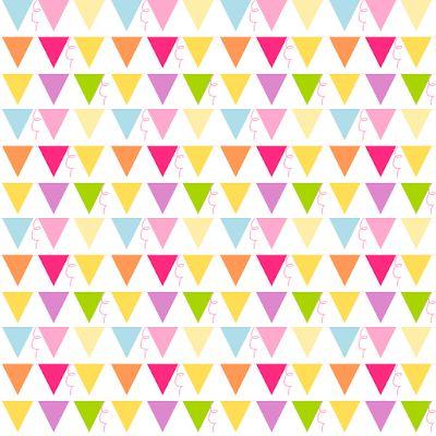 free digital party bunting scrapbooking paper - ausdruckbares Geschenkpapier - freebie | MeinLilaPark – DIY printables and downloads