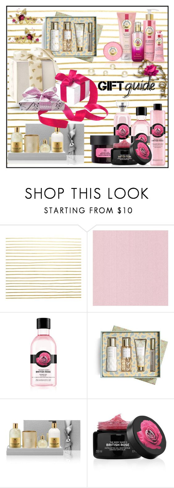"""""""GIFT GUIDE!!!"""" by kskafida ❤ liked on Polyvore featuring beauty, The Body Shop, Vera Bradley and Molton Brown"""