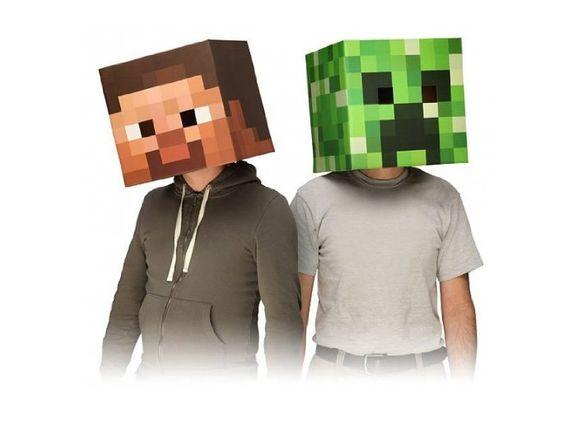 Minecraft Head Costume Mask