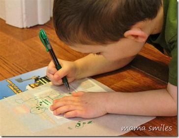 Tracing for kids: develops observation skills and fine motor skills!