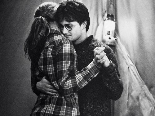 Although this scene wasn't in the book I thought it was a nice touch. It gave a different dimension to Hermione and Harry's relationship.