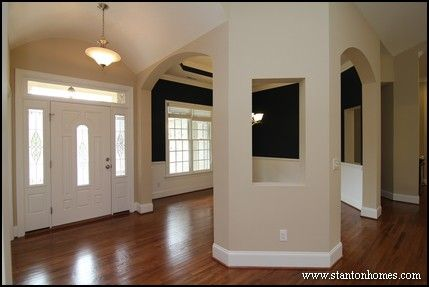 Single story homes the navy and foyers on pinterest for Dining room entrance