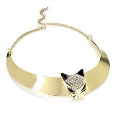 Naszyjnik Gold Colour Collar Style With Lion