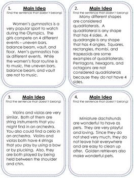Collection of Main Idea Third Grade Worksheets - Sharebrowse