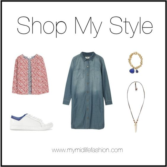 Accessorising A Denim Dress. Full details including where to shop the look at www.mymidlifefashion.com