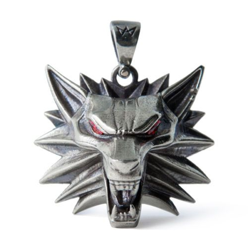 The-Witcher-3-Geralt-medallion-handmade-Wolf-head-necklace-Wild-hunt-pendant