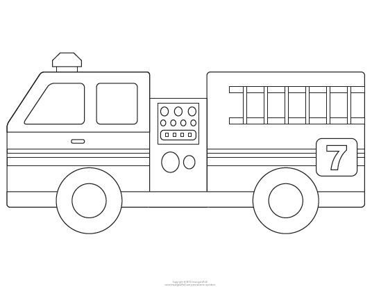 Fire Truck Template Printable Fire Engine Template For The Boy Fire Trucks,  Firetruck Birthday, Fire Truck Party